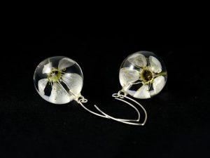 kolczyki z kwiatami mirabelki