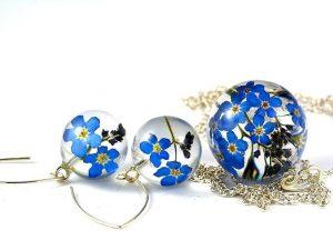 biżuteria srebrna komplet wisiorek kolczyki