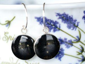 """Biżuteria srebrna. Kolczyki z nasionami dmuchawca """"Spadochrony"""""""