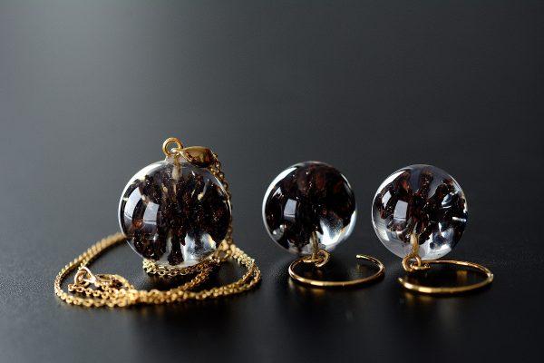komplet biżuterii pozłacanej